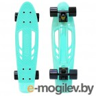Y-SCOO Skateboard Fishbone 22 Aqua-Black 405-A