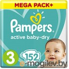 Pampers Active Baby-Dry 3 Midi 152шт
