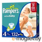 PAMPERS Active Baby Maxi 4 7-14 кг 132шт