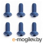 FT 4-40 X 5/16 Button Head Cap Screws, blue aluminum.