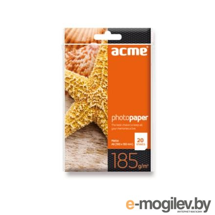 ACME Photo Paper A6 (10x15cm) 185 g/m2 20pack Matte