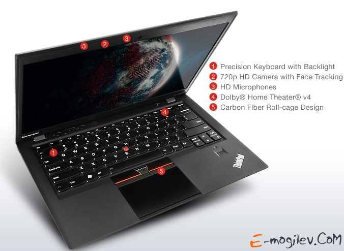 Lenovo ThinkPad X1 Carbon Core i5-4200U/4Gb/128Gb SSD/HD4400/14/HD+/Mat/Win 8 Single Language/black/BT4.0/WWAN ready/4c/WiFi/Cam
