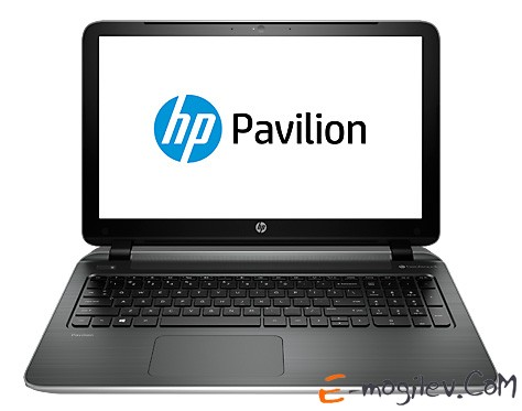 HP Pavilion 15-p054sr Core i5-4210U/4Gb/500Gb/DVD/UMA/15.6/HD/Glare/1024x576/Win 8.1/natural silver/BT2.1/6c/WiFi/Cam