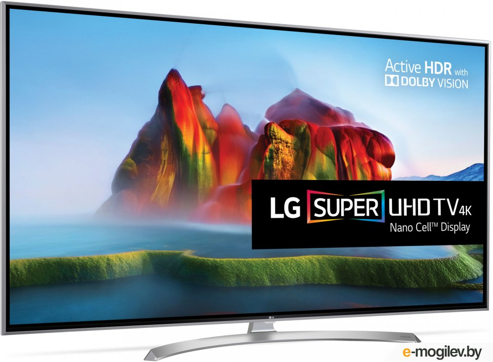 LG 49 49SJ810V серебристый/Ultra HD/100Hz/DVB-T2/DVB-C/DVB-S2/USB/WiFi/Smart TV (RUS)