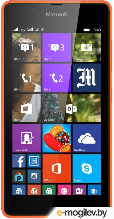 Microsoft Lumia 540 Dual Sim (Orange)